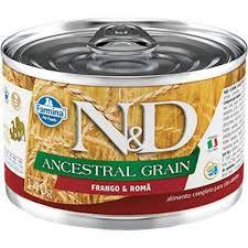 N&D Lata Ancestral Grain Frango e Romã para Cães Adultos 140gr