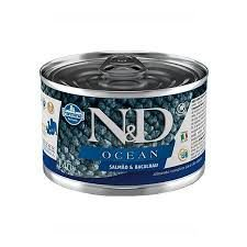 N&D Lata Ocean Salmão & Bacalhau para Cães Adultos 140g