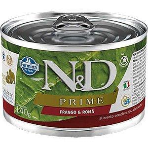 N&D Lata Prime Frango e Romã para Cães Adultos 140gr