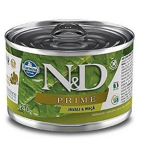 N&D Lata Prime Javali & Maça para Cães Adultos 140gr