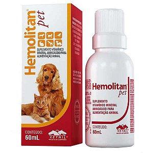 Suplemento Vitamínico Hemolitan Pet 60ml