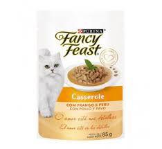 Ração Úmida Fancy Feast Casserole para Gatos Sabor frango e Peru 85g