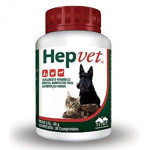 Suplemento Vitamínico Vetnil Hepvet 30 Comprimido Cães e Gatos