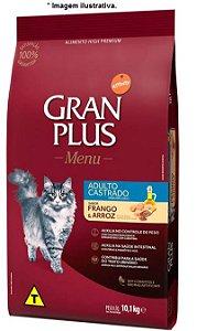 Ração Gran Plus Menu Gatos Castrados Frango e Arroz 10,1kg