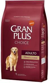 Ração para Cães Adultos Gran Plus Choice Frango e Carne 20kg