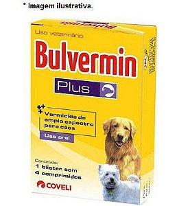 Vermífugo Coveli Bulvermin Plus - 4 Comprimidos para Cães
