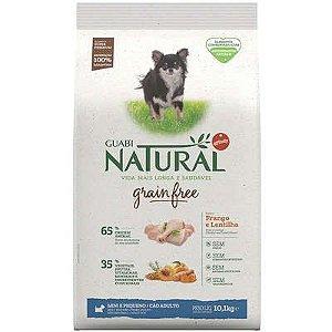Ração Guabi Natural Grain Free Frango e Lentilha para Cães Adultos Raças Mini e Pequenas 10,1kg