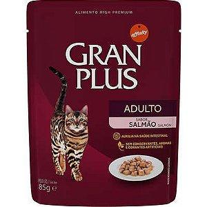 Ração Úmida Sachê Gran Plus Gato Adulto Salmão 85gr