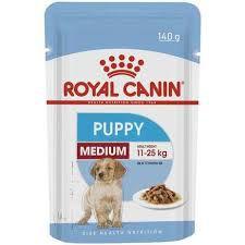 Ração Úmida Royal Canin Sachê para Cães Puppy Médio Filhotes 140g