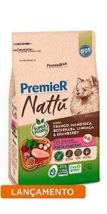 Ração Premier Nattu para Cães Adultos de Raças Pequenas Sabor Mandioca 2,5kg