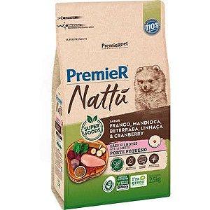 Ração Premier Nattu cães Filh. Raça Pq. Frango e Mandioca 2,5kg