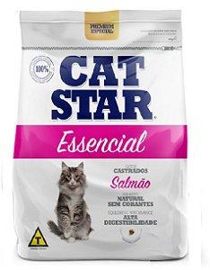 Ração Cat Star Essencial Salmão Castrados 3kg