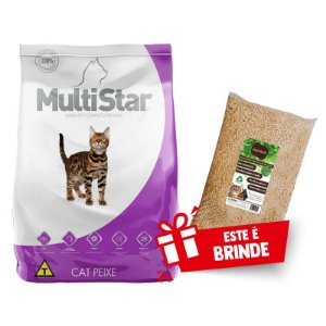 Ração Premium Especial Multi Star Cat  Peixe Adulto 15kg