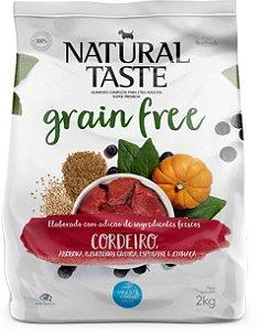 Ração Natural Taste Grain Free Cordeiro Adulto Mini Bits 2kg