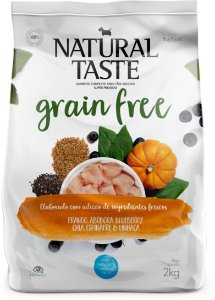 Ração Natural Taste Grain Free Frango Adulto Mini Bits 2kg