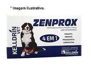 Vermifugo Zenprox Cães - 2 Comprimidos 1 para Cada 30Kg
