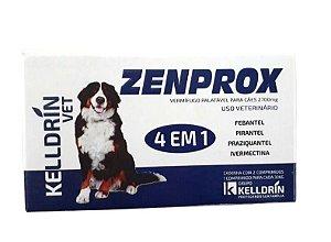 Vermifugo Zenprox Cães - 2 comprimido 1 para cada 30Kg