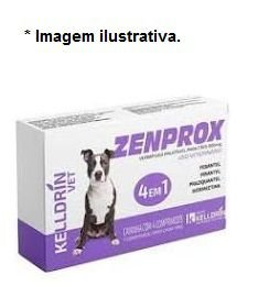 Vermifugo Zenprox para Cães 900mg  – 4 Comprimidos 1 para Cada 10kg