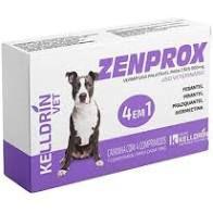 Vermifugo Zenprox para Cães Médios 900mg  – 4 Comprimidos. 1 para cada 10kg