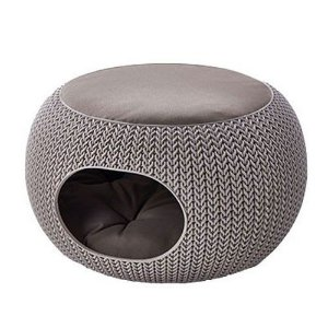 Cama Puff Cozy Pet Com Almofada Knit Curver Cozy Pet Home