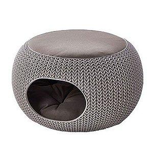 Cama Puff Cozy Pet Com Almofada Knit Curver Cozy Pet Home