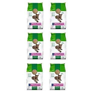 Granulado Sanitário Progato Grãos médios Fardo com 6 pacotes 4kg