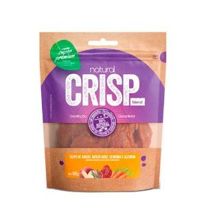 Snacks Super Premium Natural Crisps Cães Chips de Angus, Batata Doce, Cenoura e Alecrim 100g