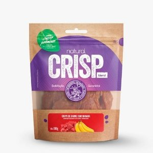 Snacks Super Premium Natural Crisps Cães Chips de Carne com Banana 100g