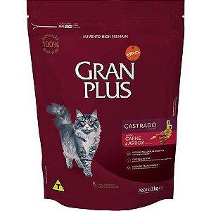 Ração Gran Plus affinity Carne e Arroz para Gatos Castrados 3kg
