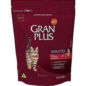 Ração  Gran Plus Affinity Carne e Arroz para Gatos Adultos 3kg