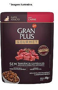 Ração Úmida Affinity Gran Plus Sachê Gourmet Carne para Gatos Adultos 85gr