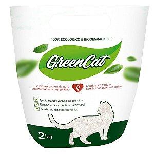 Granulado Sanitário Green Cat 2kg Biodegradável