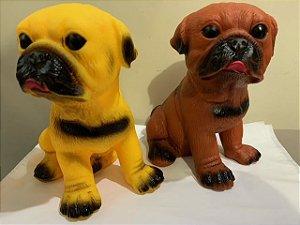 Brinquedo Pug de borracha para cachorro com som  - 18cm