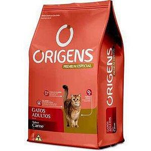 Ração Origens Premium Especial Carne Gatos Adultos 10,1kg