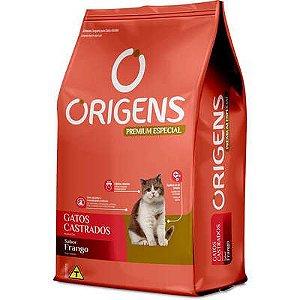 Ração Origens Premium Especial Frango Gatos Castrados 10,1kg