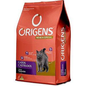 Ração Origens Premium Especial Salmão Gatos Castrados 10,1kg