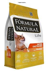 Ração Fórmula Natural para Gatos Castrados frango 7kg (14x500gr)