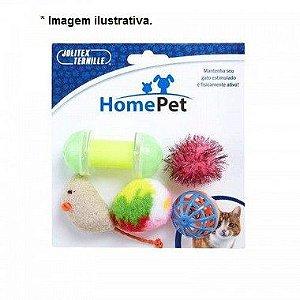 Brinquedo Kit Gatinho Animado Home Pet - c/ 05unid