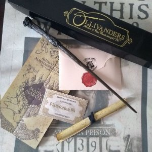 Varinha Harry Potter + Carta + Mapa + Bilhete + Feitiços