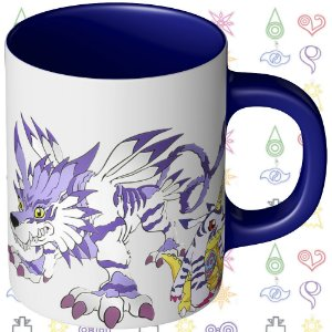 Caneca Digimon - Gabumo e Matt Ishida