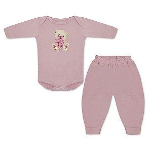Saída Maternidade Ursa Popi 5 Peças