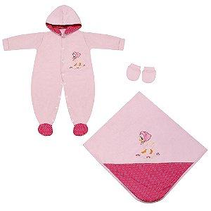 Saída Maternidade Pequena Malu 3 Peças
