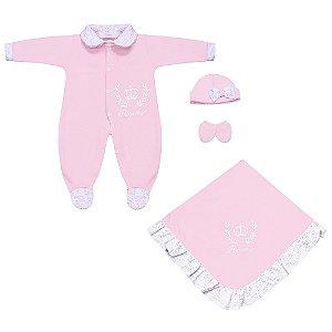 Saída Maternidade Princesa Rosa 4 Peças