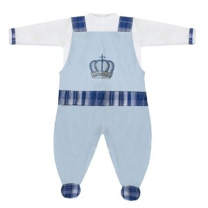 Conjunto Rei Arthur Azul Bebê