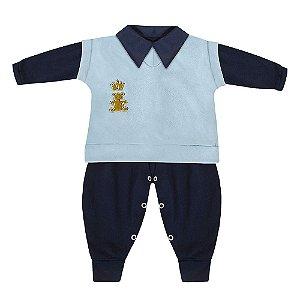 Conjunto Realeza Azul Marinho E Azul Bebê