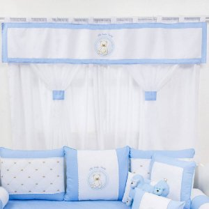 CORTINA DUPLA TEDDY LOVELY AZUL