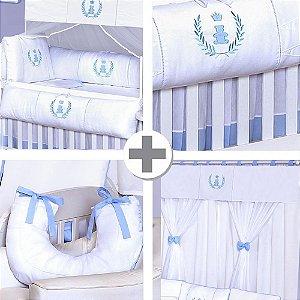 Combo Collection Realeza Azul Bebê