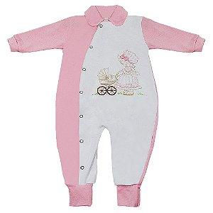 Macacão Para Bebê Amor Rosa