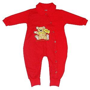 Macacão Para Bebê Vermelho Amor
