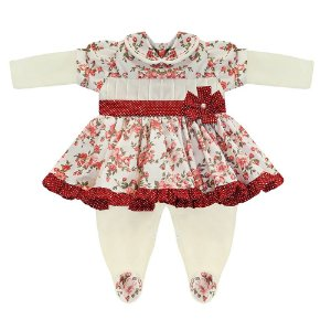 Macacão Para Bebê Boneca Floral